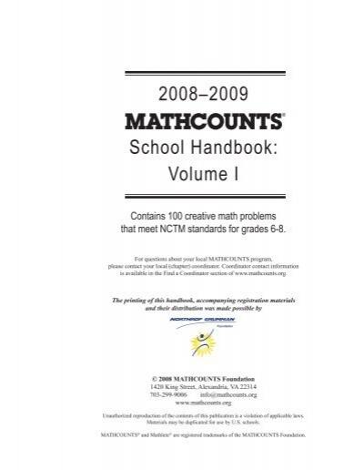 48 MATHCOUNTS 2008 2009