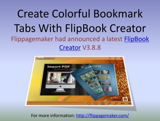 create colorful bookmark tabs with flipbook creator 24