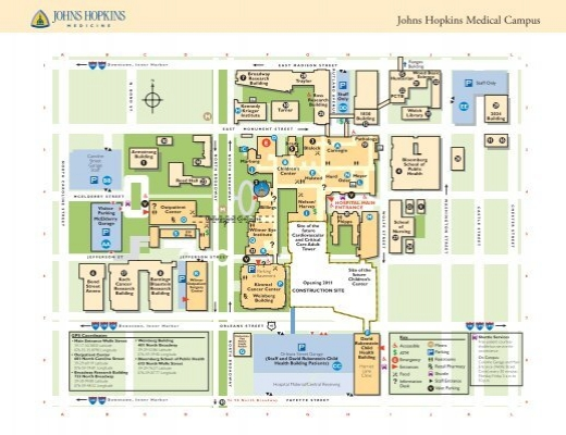 Jhh Campus Map.A Campus Map The Johns Hopkins Institute For Clinical And