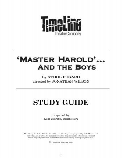 a literary analysis of master harold by athol fugard Need help with master harold and the boys in athol fugard's master harold and the boys check out our revolutionary side-by-side summary and analysis.