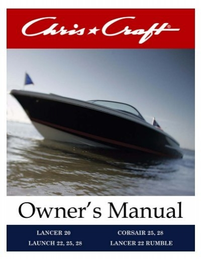 Runabout Owner's Manual - Chris CraftYumpu