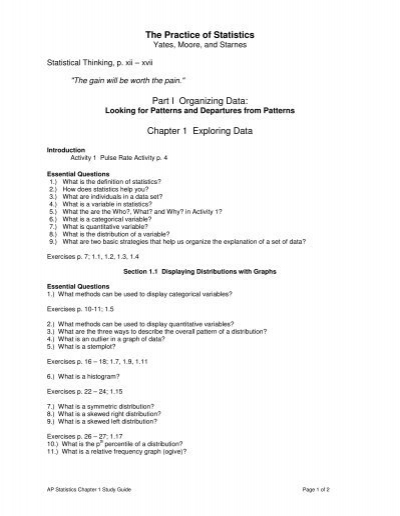 Statistics data analysis and probability answers