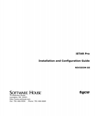 istar pro installation and configuration guide tyco security istar pro installation and configuration guide tyco security