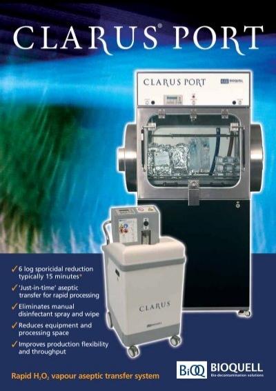 Clarus l hydrogen peroxide vapour generator envair deutschland - Unknown uses hydrogen peroxide ...