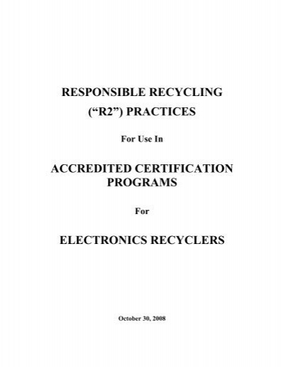 Responsible Recycling - Decisions & Agreements, LLC