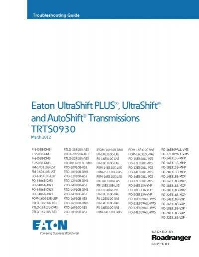 Eaton UltraShift PLUS UltraShift And Weller Truck