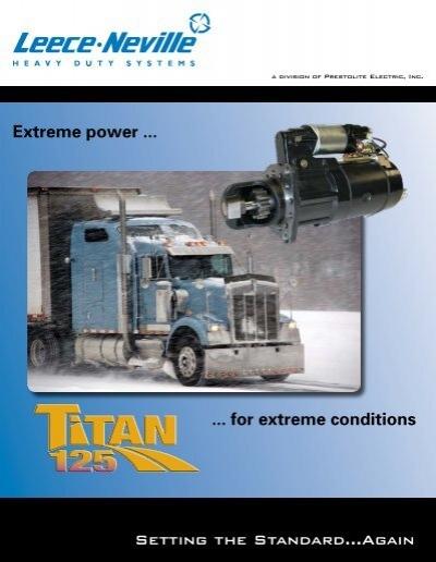 Titan 125 heavy duty starter motor news prestolite for Castellano electric motors inc