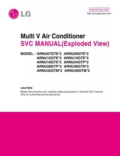 Multi V Air Conditioner SVC MANUAL(Exploded View) MODEL
