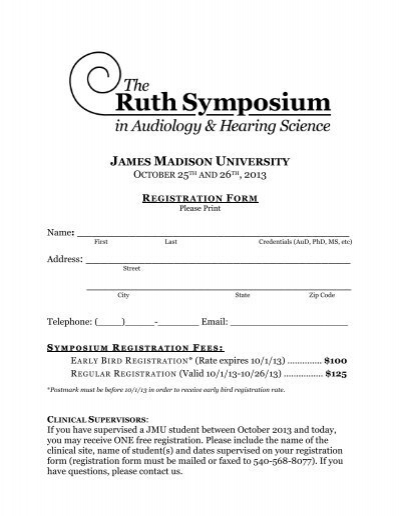 2013 Registration Form Communication Sciences And Disorders