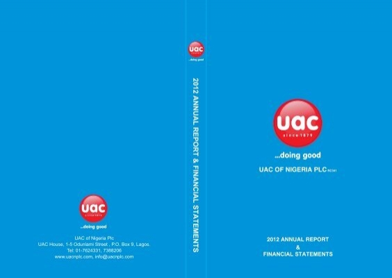 2012 Annual Reports - UAC of Nigeria
