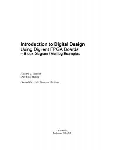 introduction to digital logic design hayes pdf