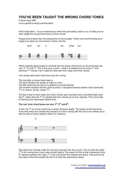 YOU\'VE BEEN TAUGHT THE WRONG CHORD TONES - Phill Fest