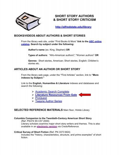 example of short story with author