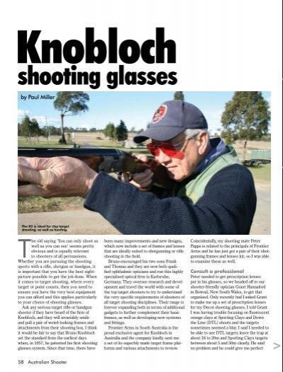 e965b424822 Shooting glasses Australian Shooter February 2013 - Frontier Arms