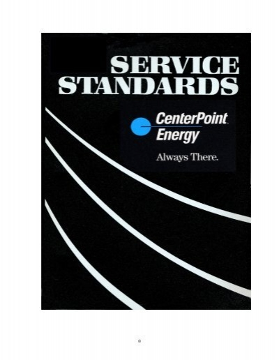 Electric Service Standards Centerpoint Energy