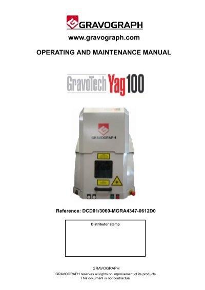 gravograph gravotech yag100 laser manual e engraving com rh yumpu com Gravograph USA Gravograph Catalog