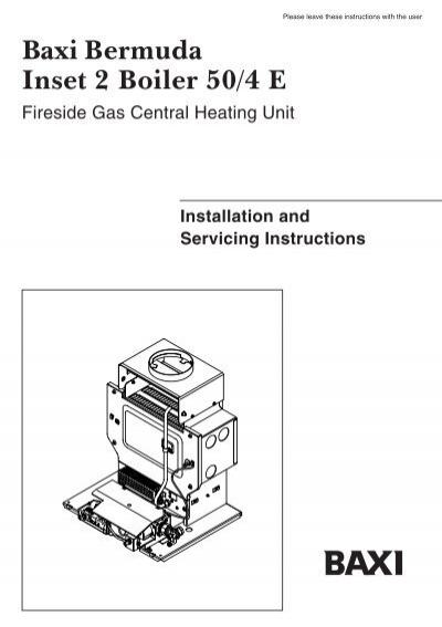 Baxi Boiler: Baxi Boiler Instructions