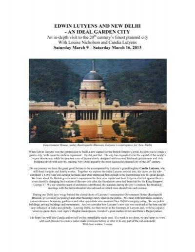 edwin lutyens and new delhi an ideal garden city Lutyens