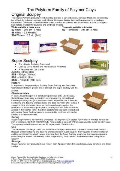 Super Sculpey Zigzag Polymer Clay Supplies