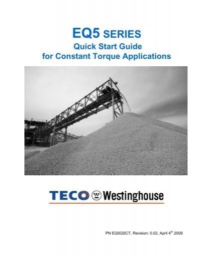 eq5 quick startup guide constant torque teco westinghouse rh yumpu com TECO-Westinghouse Motors TECO-Westinghouse Motors