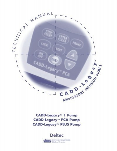 Deltec Cadd Legacy Infusion Pump Service Manual Internetmed