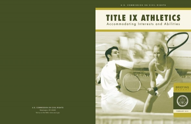 Title ix athletics accommodating interests and abilities