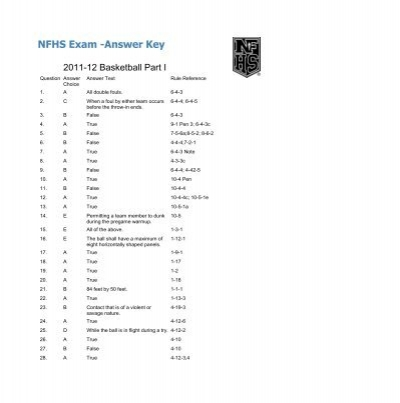 Nfhs exam answer key tbabo fandeluxe Image collections