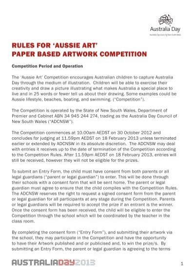 Rules for aussie art paper based artwork competition po cruises pronofoot35fo Images