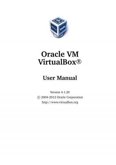 Virtualbox Manual Deutsch
