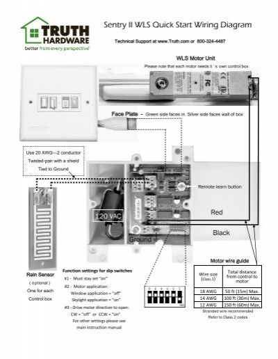 sentry ii wls quick start wiring diagram truth hardware
