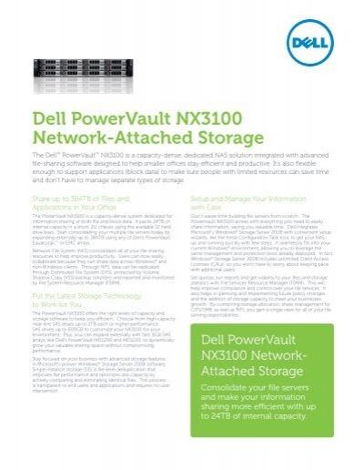 dell powervault nx3100 network attached storage rh yumpu com Dell PowerVault NX400 Dell NAS Storage