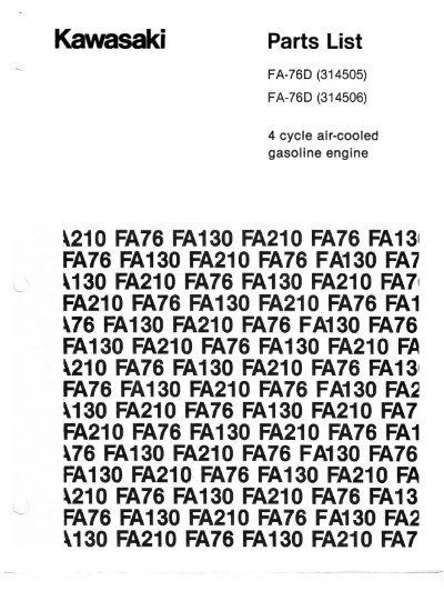 Kawasaki Fa76d Owners Manual