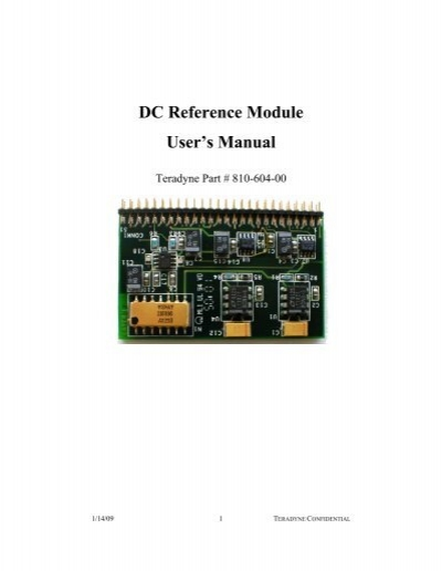 Teradyne ultraflex manual array dc reference module user u0027s manual teradyne gso rh yumpu fandeluxe Gallery
