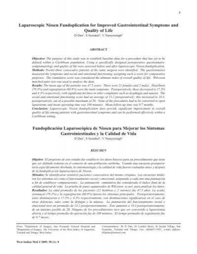 Laparoscopic Nissen Fundoplication for Improved