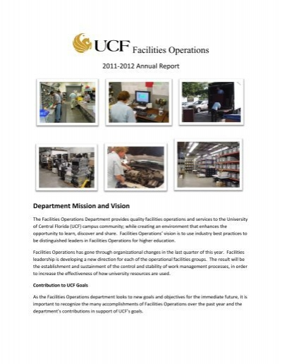 Department Mission and Vision - UCF Facilities and Safety ...