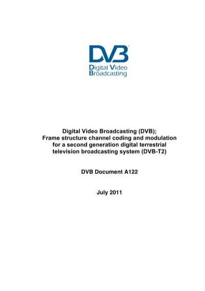 Digital Video Broadcasting (DVB); Frame structure ... - MonitoR