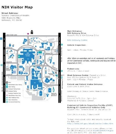 nih visitor map nih clinical center national institutes of health