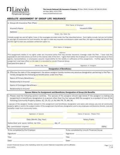 insurance law assignment Each of the proposed laws were directed toward assignments entered into by  property owners in exchange for the agreement of the assignee — typically a.