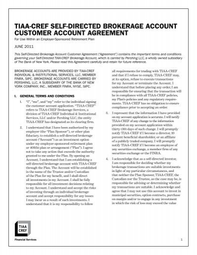 tiaa-cref self-directed brokerage account customer account
