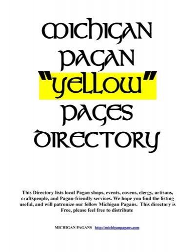 Michigan Pagans Yellow Pages