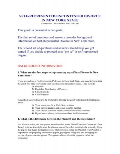 Self represented uncontested divorce in new york state rural law self represented uncontested divorce in new york state rural law solutioingenieria Choice Image