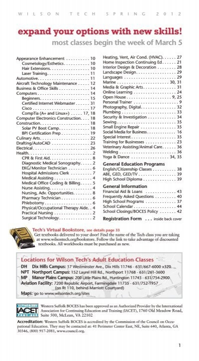 Expand Your Options With New Skills Western Suffolk Boces
