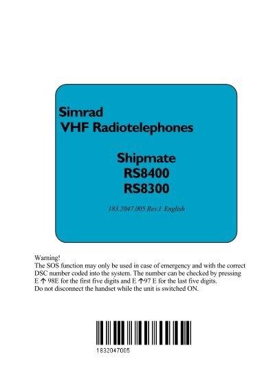 SIMRAD® RS8300//8400 kompatibles handset cable SHIPMATE® RS8300//8400 Neu