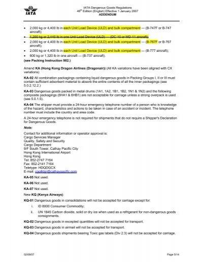 iata dangerous goods regulations 58th edition pdf