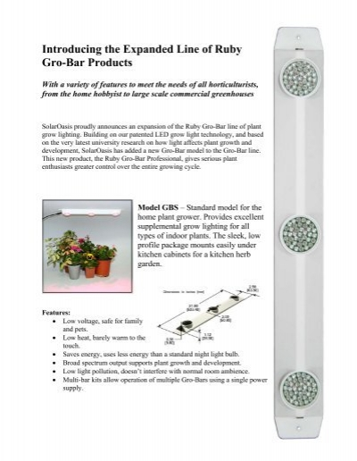 Introducing the Expanded Line of Ruby Gro-Bar     - LED Grow Master