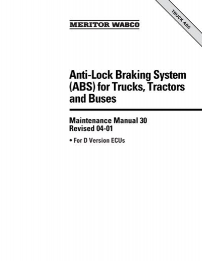 anti-lock braking system (abs) for trucks, tractors and buses  yumpu