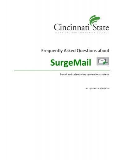cincinnati state surge mail
