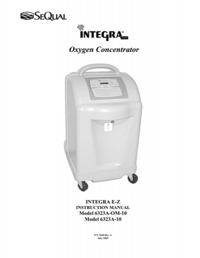 sequal integra manual oxygen concentrator store rh yumpu com Portable Oxygen Concentrator SeQual Eclipse 1000 Recall