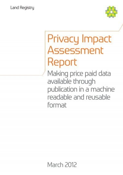 Privacy Impact Assessment Report - Land Registry