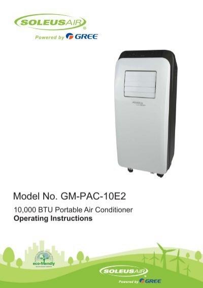 Model No Gm Pac 10e2 Soleusair